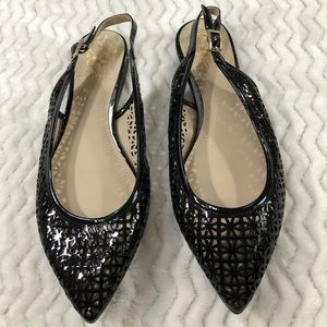 Vince Camuto Laser Cut Out Slingback Flats